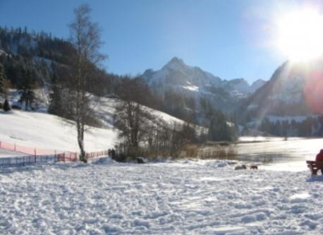 Schwarzsee (on 1050 m)  in the winter, 35 km away