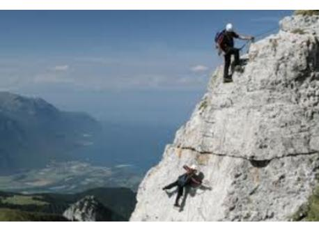 Via Ferrata in Moléson, 40 km or in many places in the Alps.
