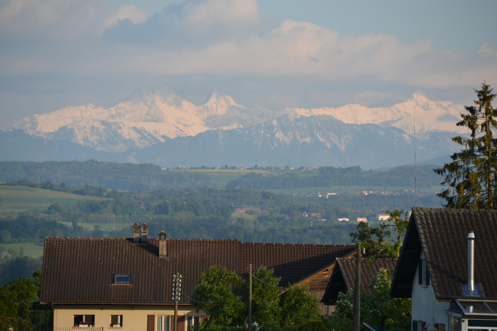View on mountains from