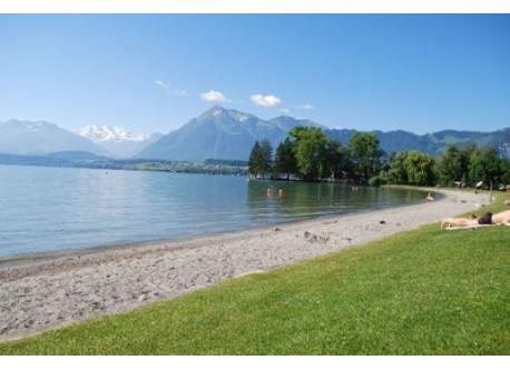 Public Swimming Pool and lakeshore in Thun