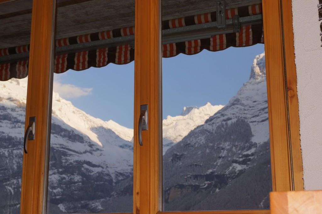 Sicht vom Wohnzimmer aus - vue de la salle de séjour.