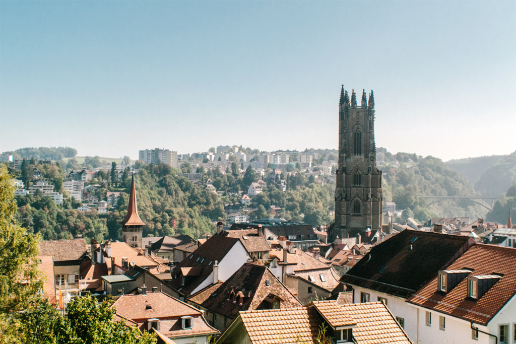 Fribourg cathedral. 365 steps up to a breathtaking view over the town & the mountains