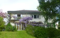our appartement is on the first floor, with big terrasse and view over the mountains, the vineyards and Lake Geneva