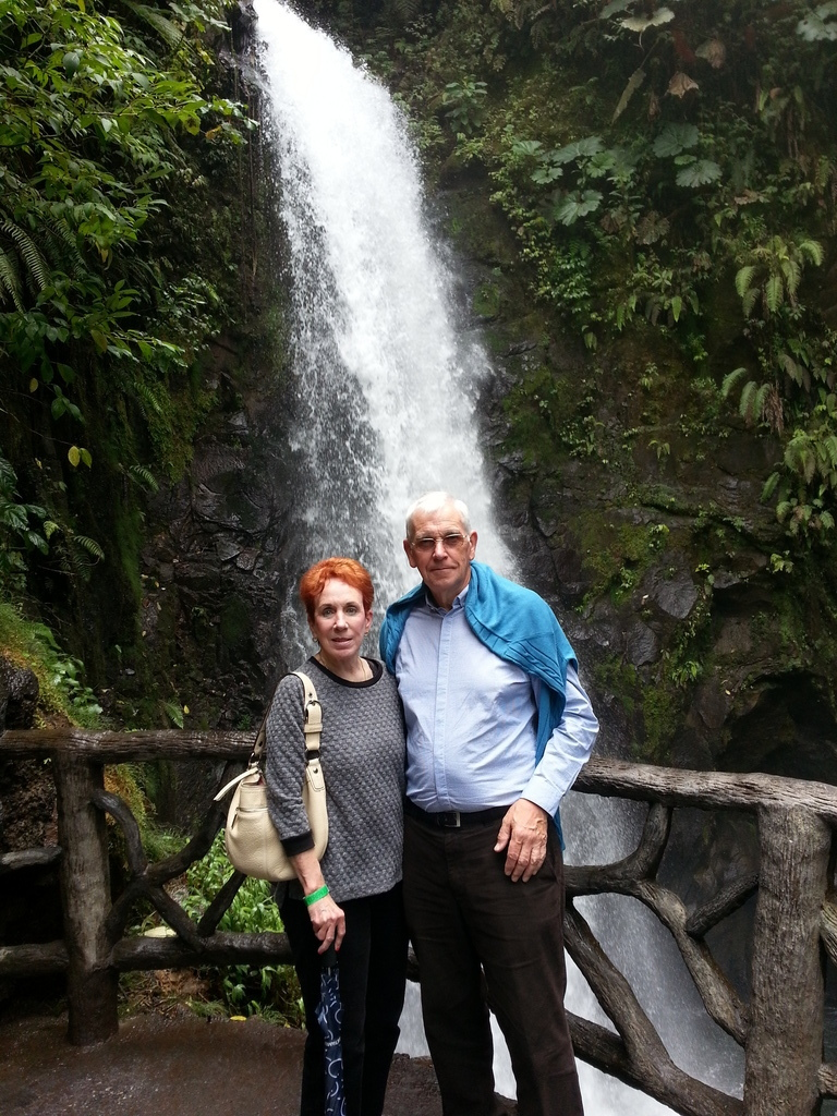 Leslie & Jim at LaPaz Waterfalls
