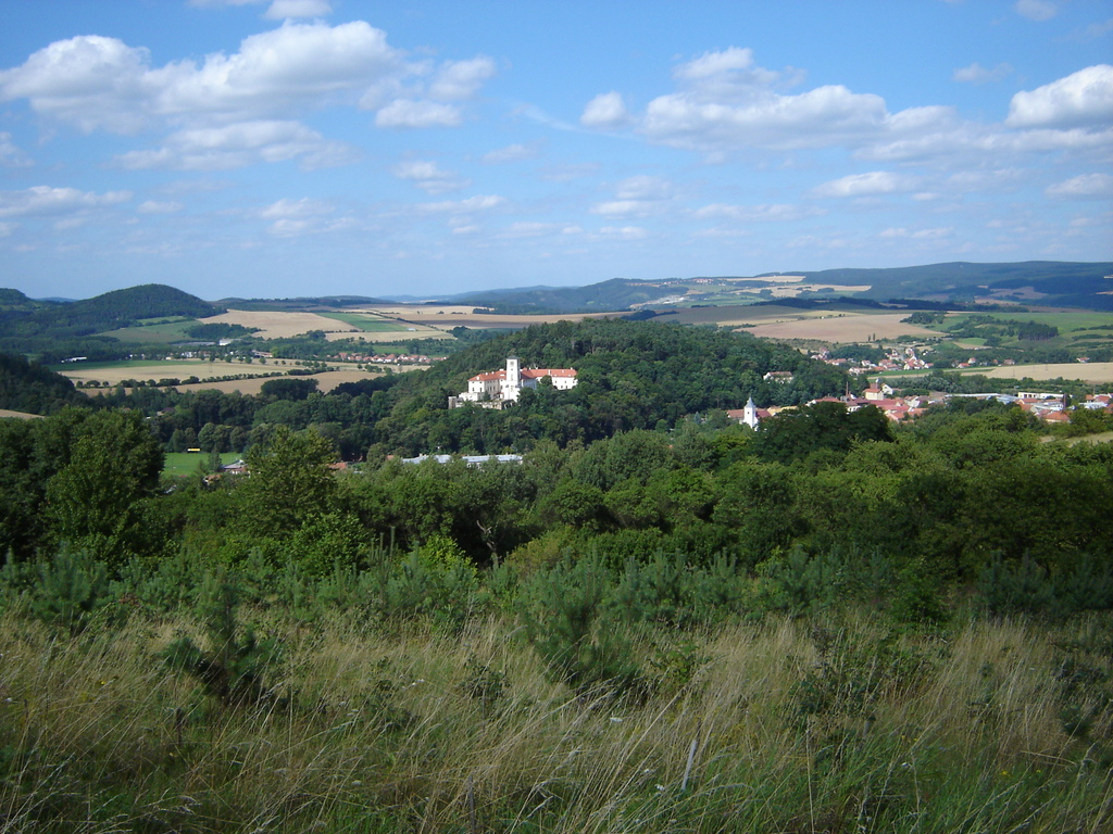 Černá Hora from the hill, 10 minutes walk
