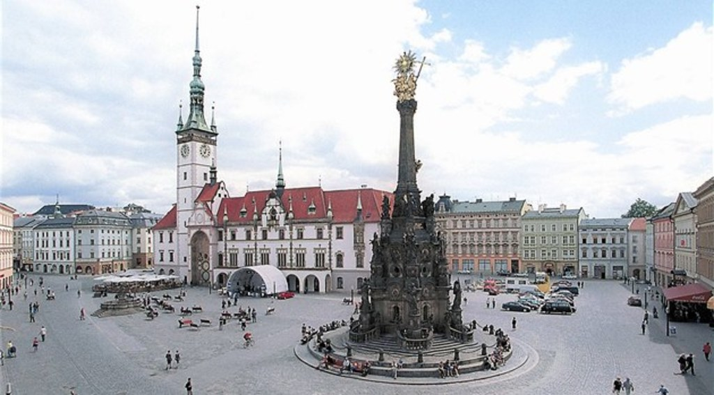 The city of Olomouc - 55 km, the square, the astronomical clock