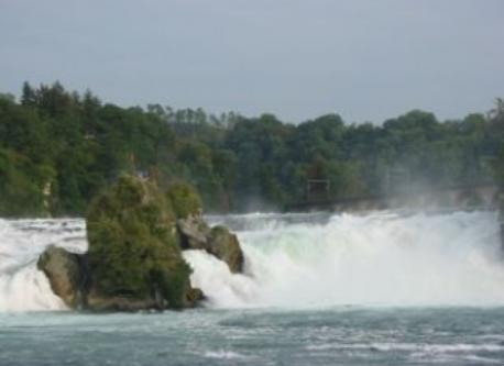 Big waterfall near Schaffhausen (CH)