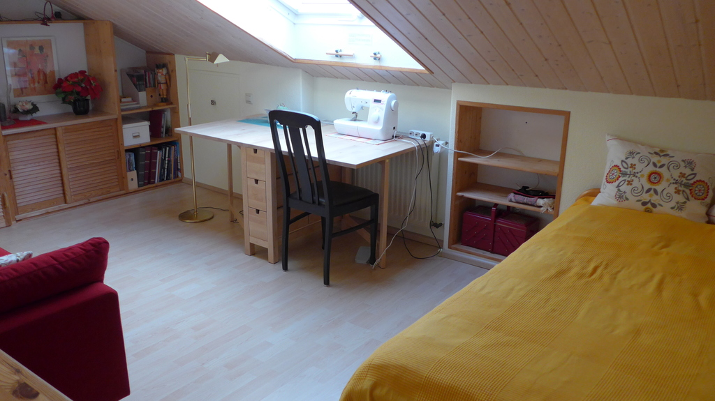 one of the single rooms. Bed 1 x 2 meter