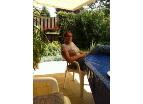 our daughter on the veranda