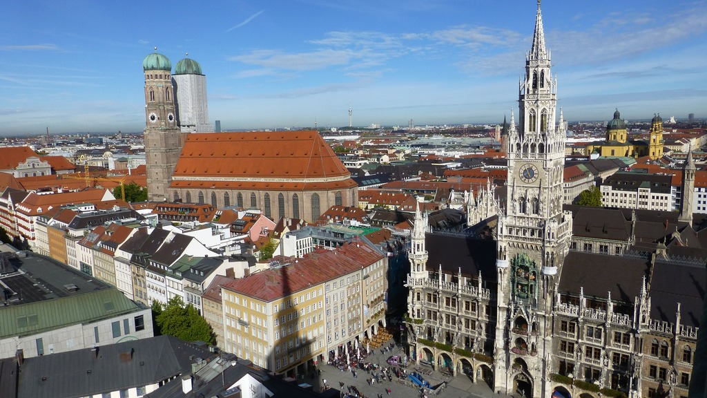 Munich city center, 45 mins by train