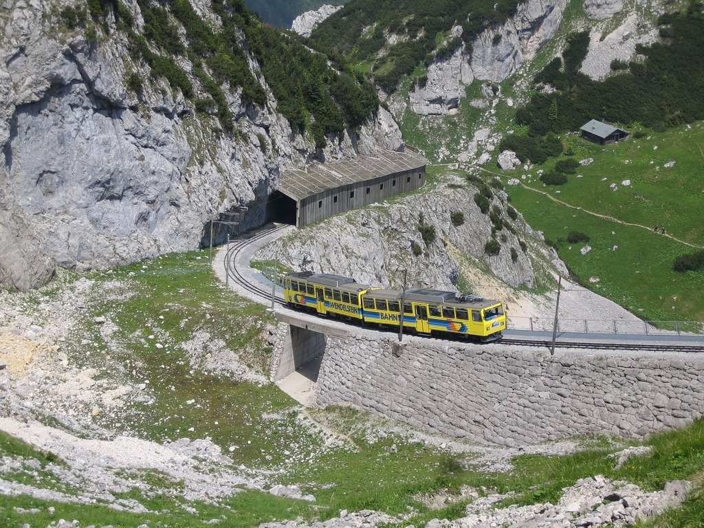 By train on Mount Wendelstein