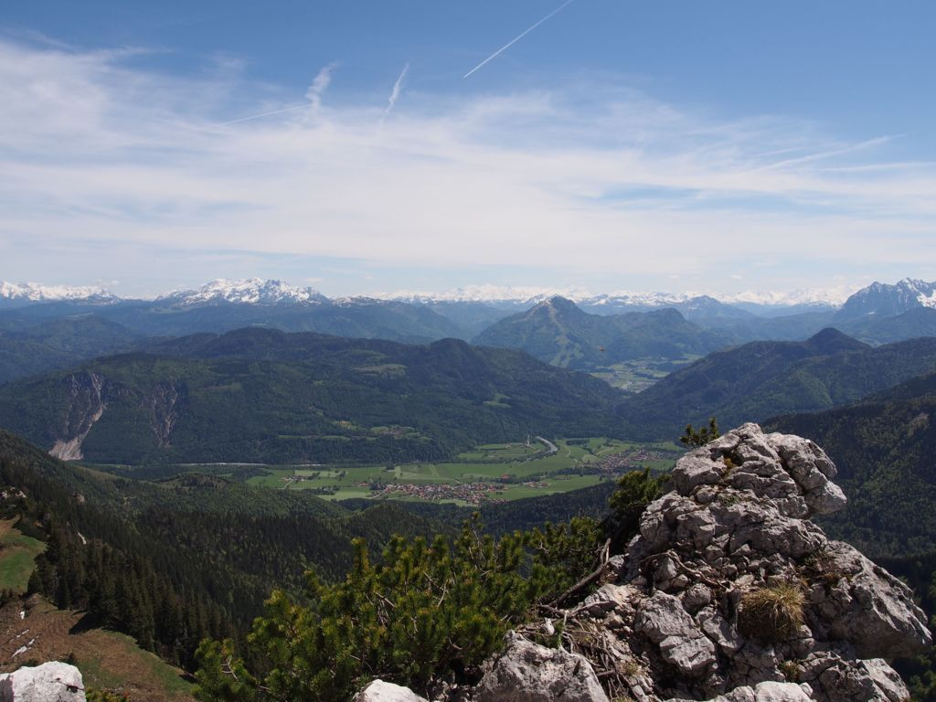 View from Mount Kampenwand towards Central Alps