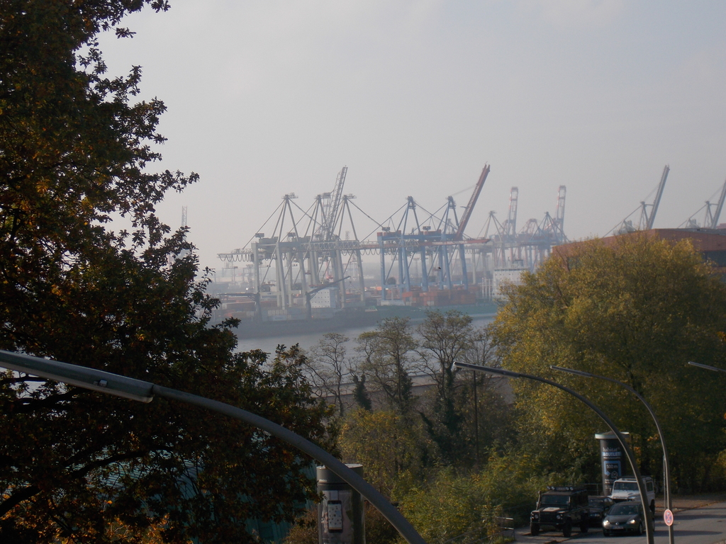 View of the Elbe river, near our house (5 min.)