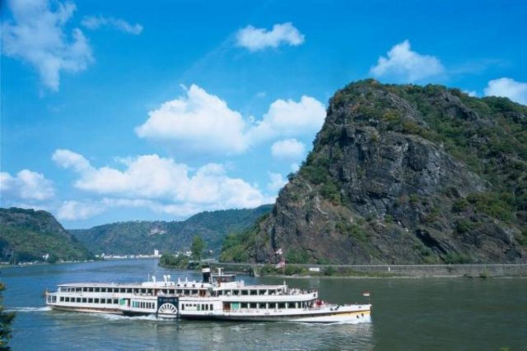 The river rhine. Nice for day cruises starting in Mainz. Here the famous Loreley.