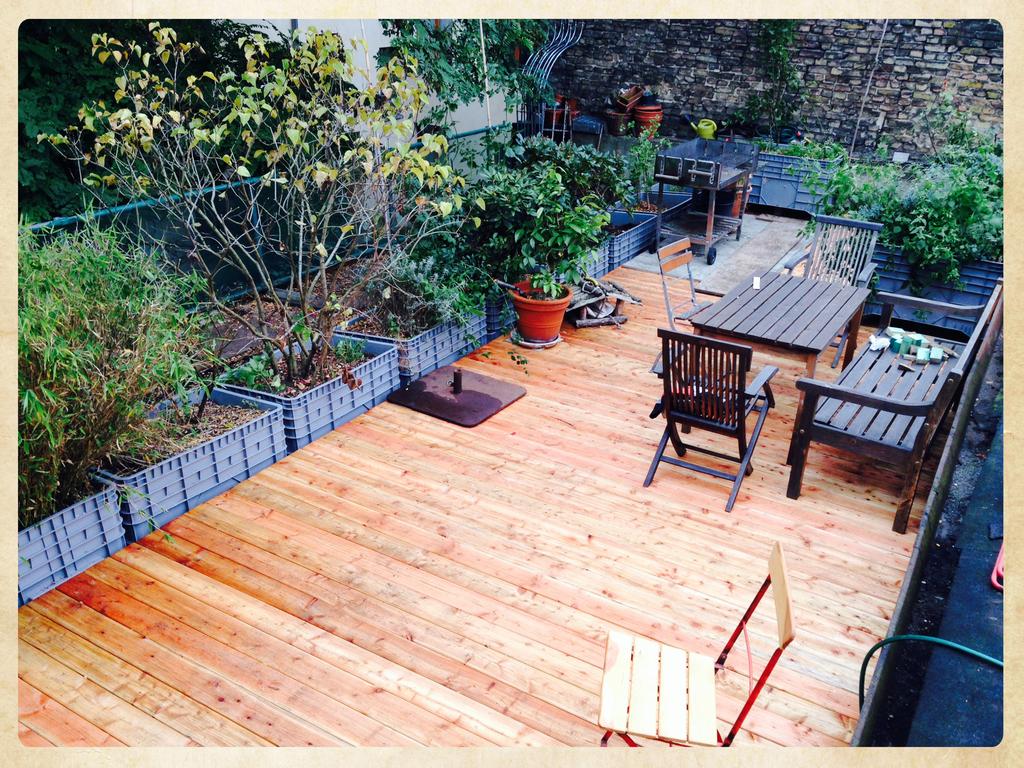 Dachterrasse  beim Wohnraum/ roof garden beside  living room