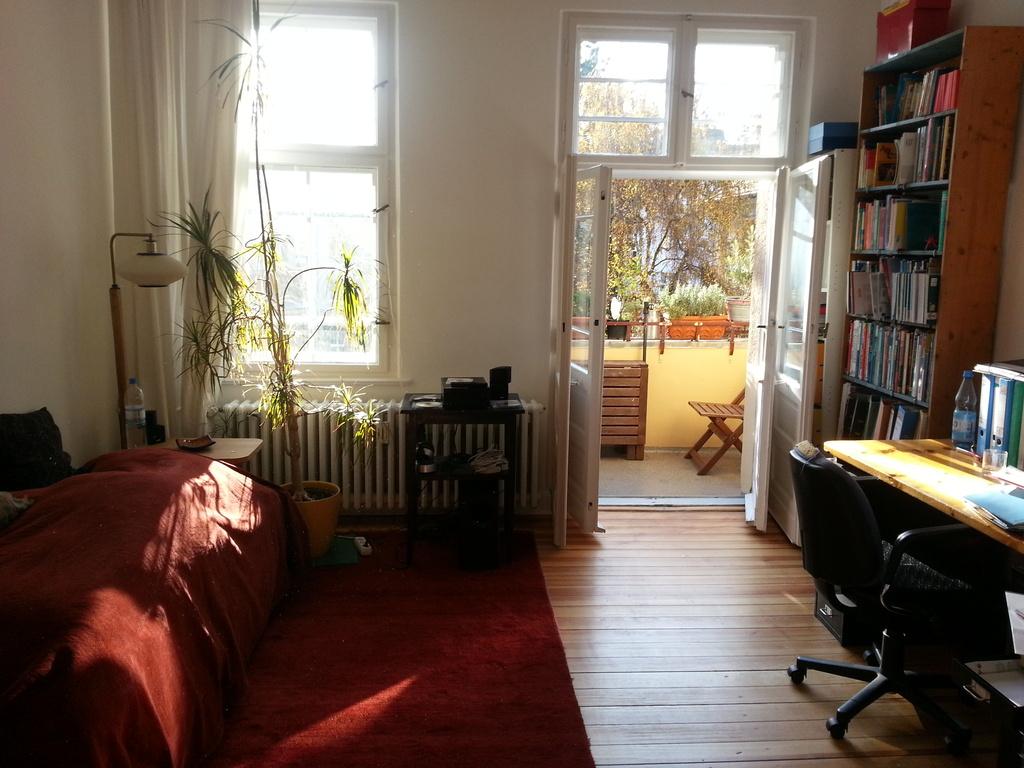 study room with balcony