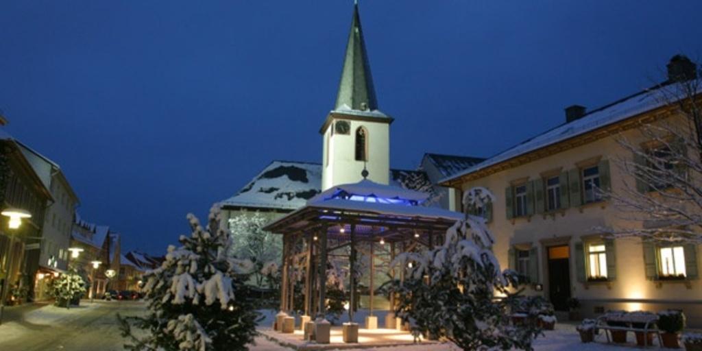 Walldorf, Zentrum im Winter