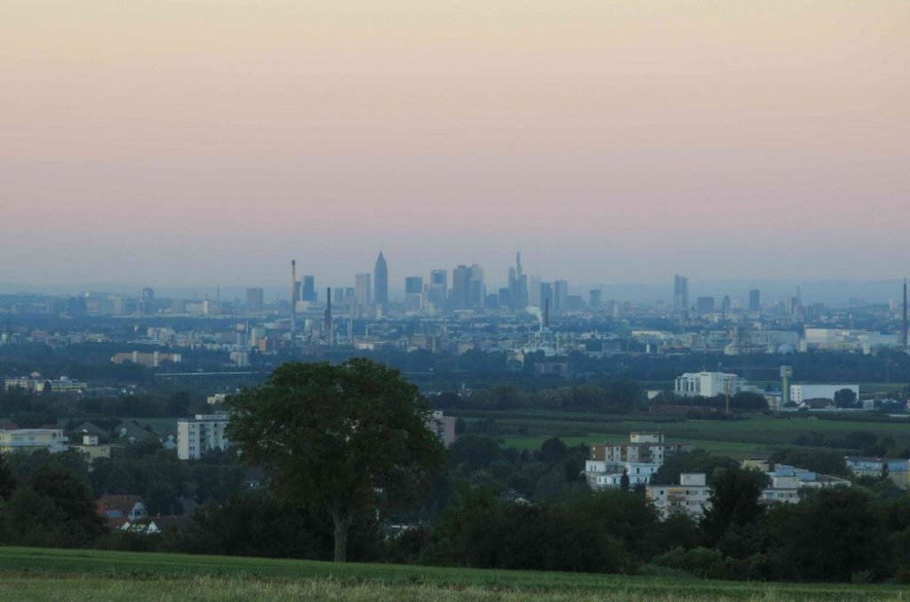 View from hill to Frankfurt
