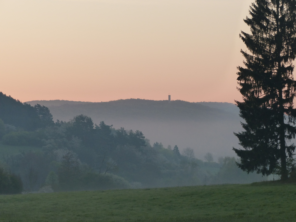 Morning impression of Bad Berkas Paulinenturm