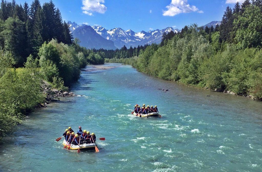 Rafting auf der Iller