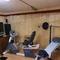 ein kleiner Fitnessbereich im Keller