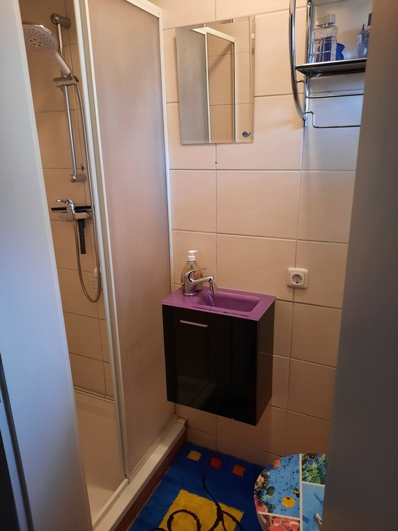 kleines Gästebad mit WC und Dusche
