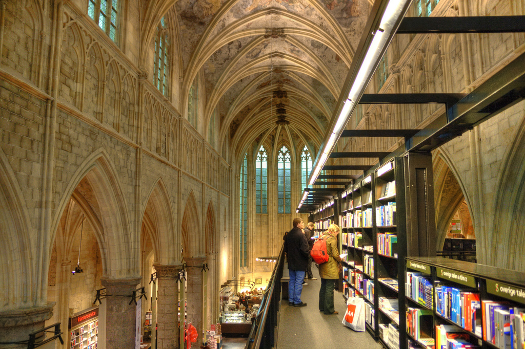 beautiful bookshop in Maastricht