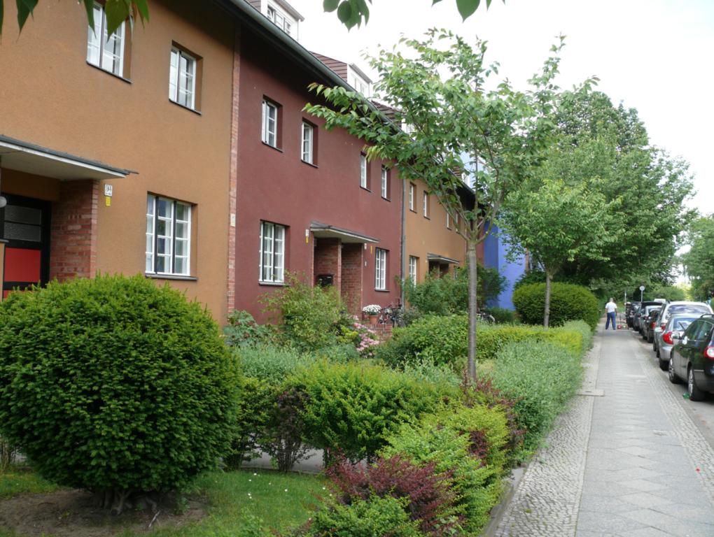 Denkmalgeschützte Häuser in der Hufeisensiedlung
