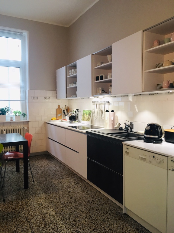 Küche vom Flur aus gesehen