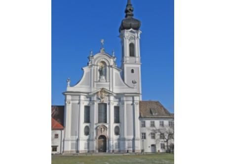 Famous baroque church in Diessen