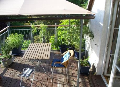 one of our balconies in Marburg