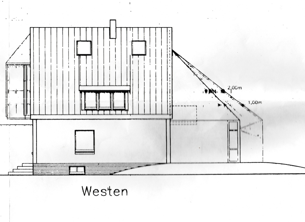 Haus West Ansicht,  house view west side