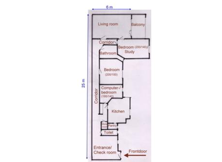 plan of our apartment