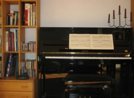 Piano in the livingroom