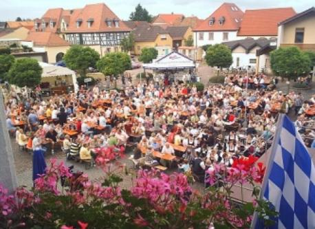 our village                                 Bierfest in August     around the corner