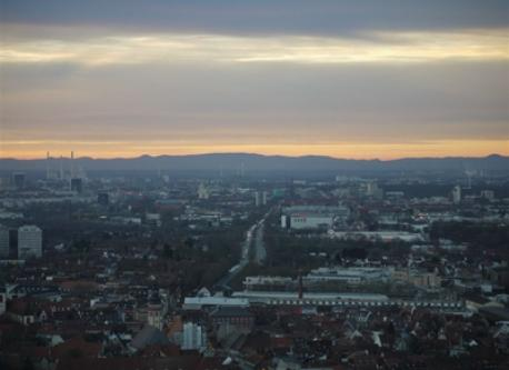 View over Karlsruhe from Durlach Turmberg