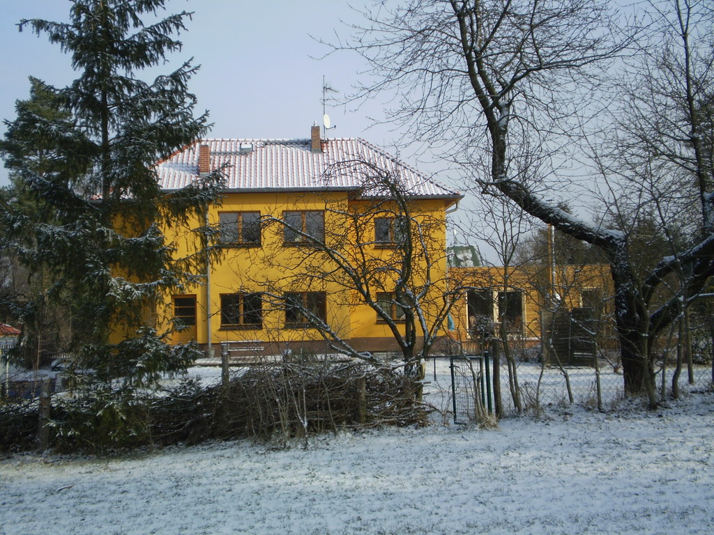 our house in the wintertime
