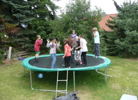 Trampoline passing a heavy misuse test :-)