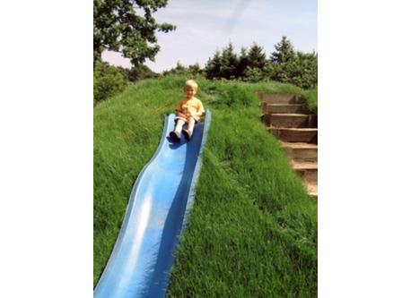 Hill slide inside the garden