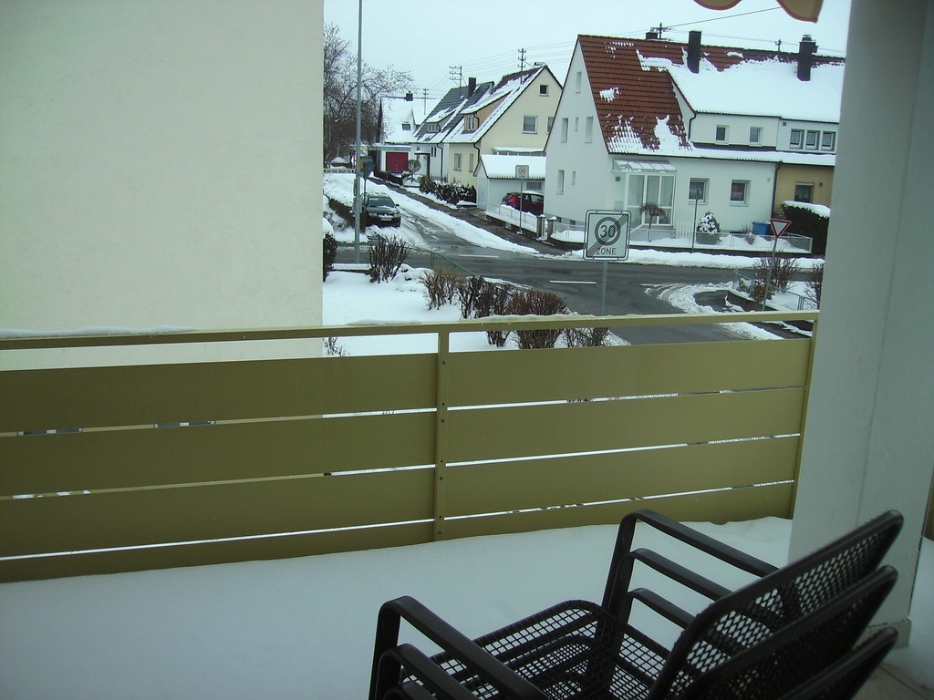 balcony - in the winter