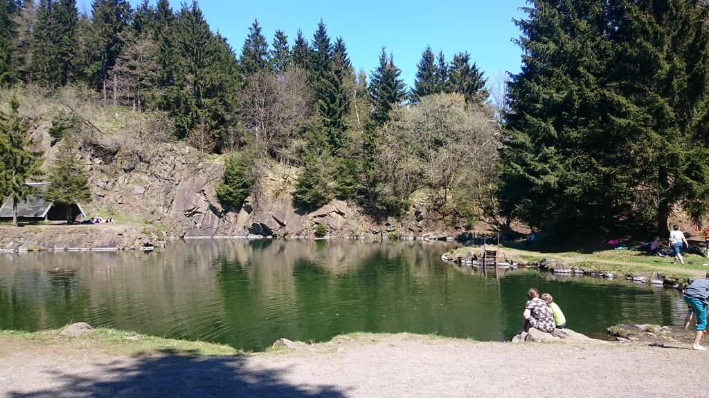 Mountainlake Ebertswiese at the Rennsteig