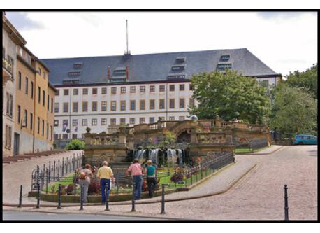 the old water art and the Castle Friedenstein