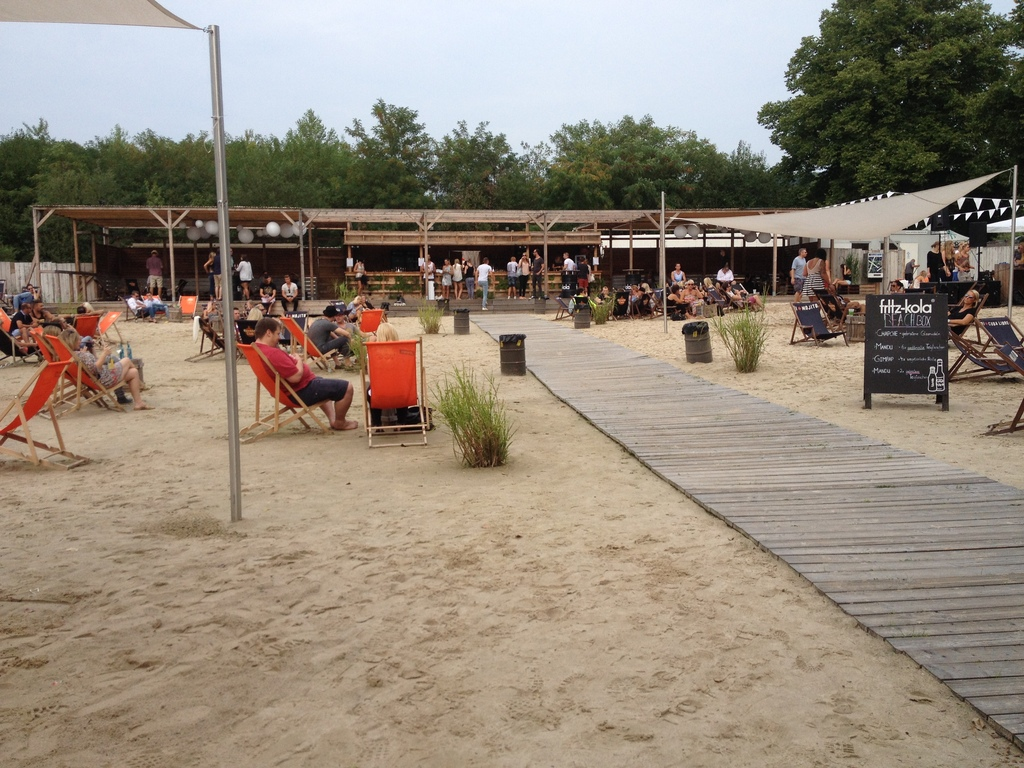 Beach Bar Bonn Oberkassel – next to the Rhine