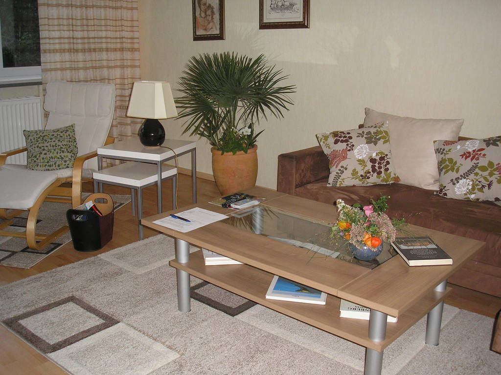 The living-room of the holiday-flat