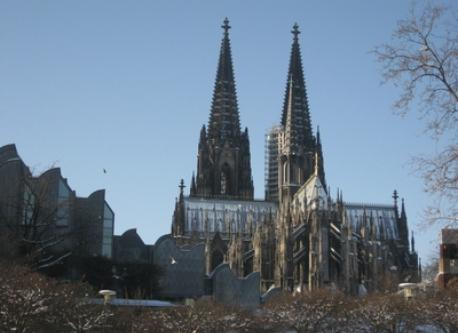 The Cathederal from the Rhine with the Museum of Modern Art