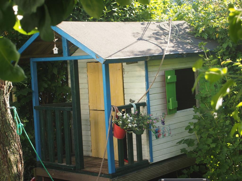 Children's playhouse in the garden
