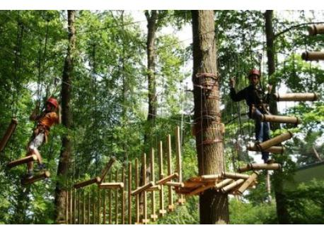 Ropescourse in Hennef (15 min. by car)