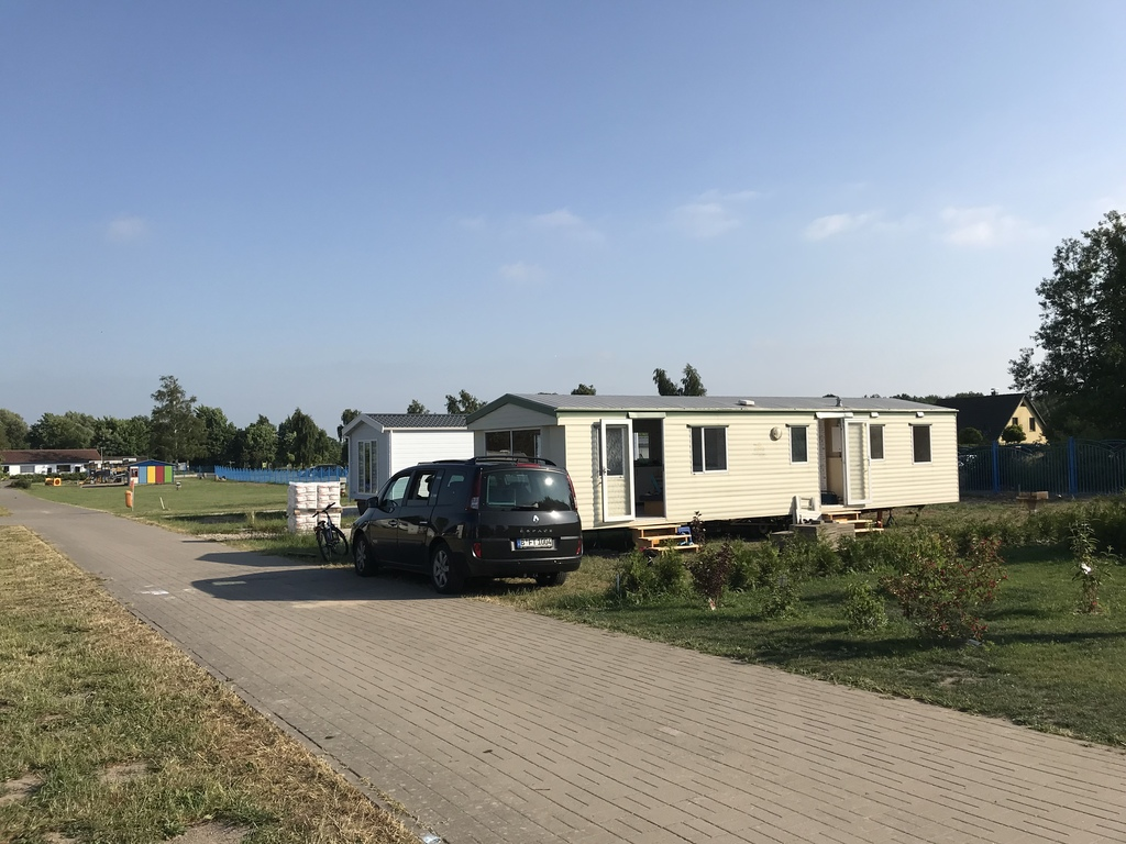 Our mobile home at the Baltic sea