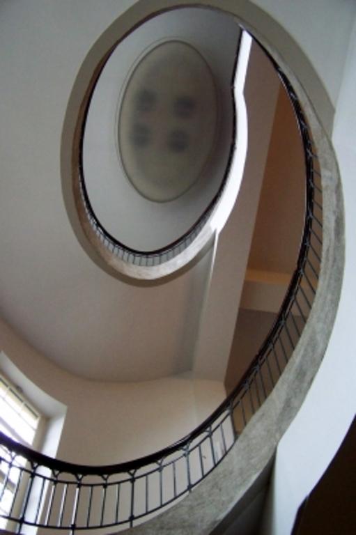 Staircase inside the Bauhaus university designed by Henry van de Velde: Unsesco World Heritage