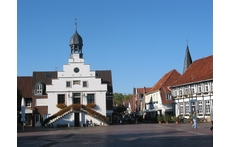 Old Town Hall and market square in Lingen - (55,ooo inhabitants)